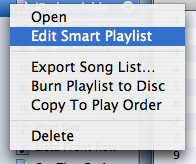 Editing a Smart Playlist